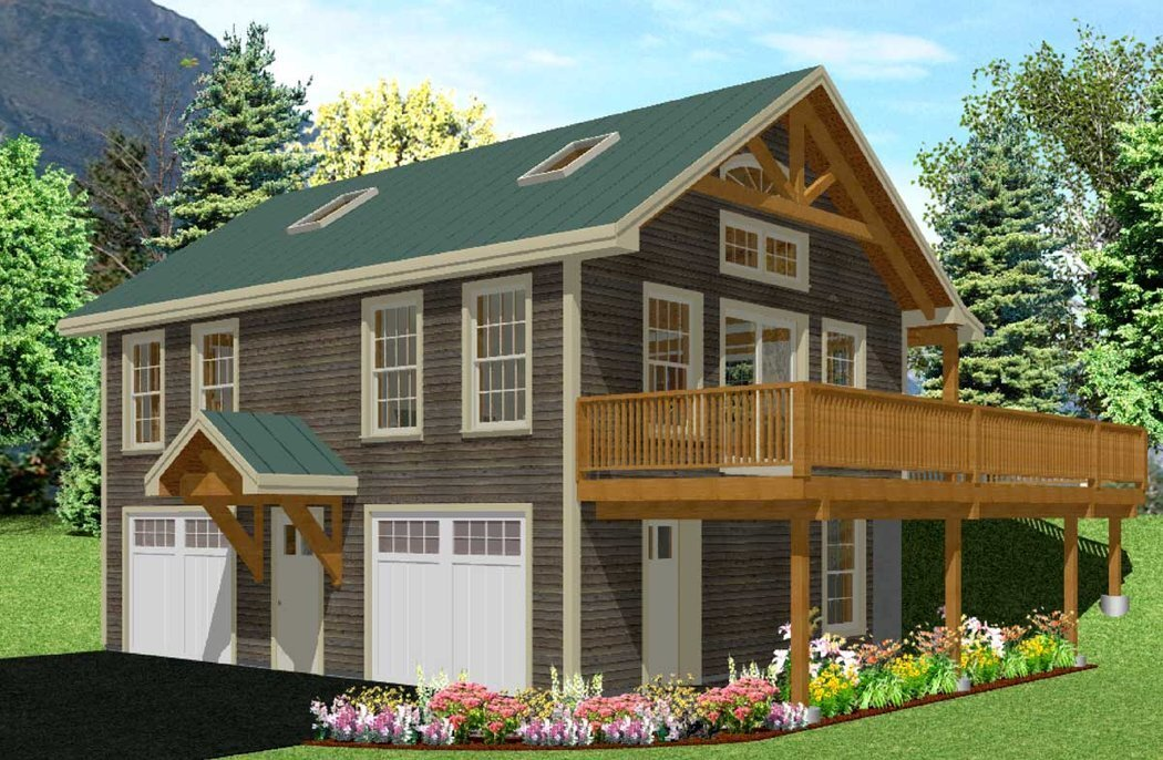 Post beam carriage house plans home design and style Carriage house plans