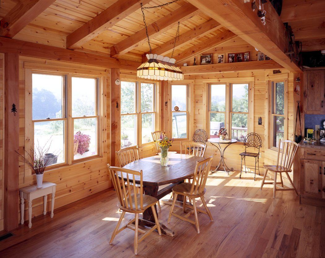 Habitat post beam for Cedar sunroom