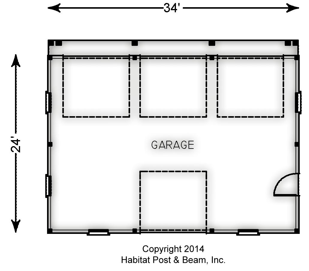 Habitat post beam for Post beam garage plans